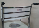 Stainless Steel Deluxe Commode with ABS Castors