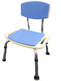 EVA Foam Padded Aluminium Shower Chair With Backrest