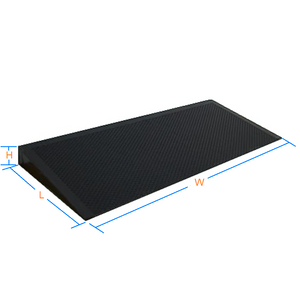 Wooden Ramp with Slip Resistant Vinyl Protective Cover