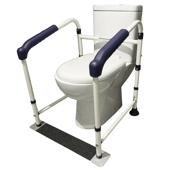 Aluminium Frame Toilet Safety Rail With Base