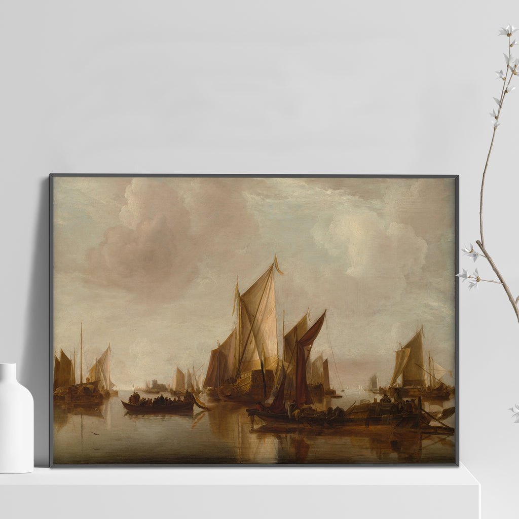 A State Yacht and Other Craft in Calm Water Poster