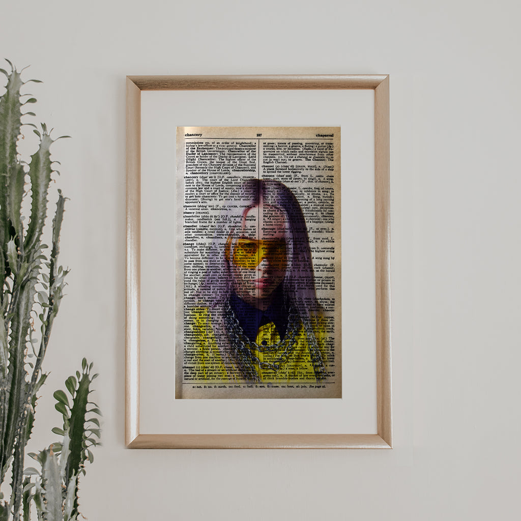 Billie Eilish Vintage Book Print
