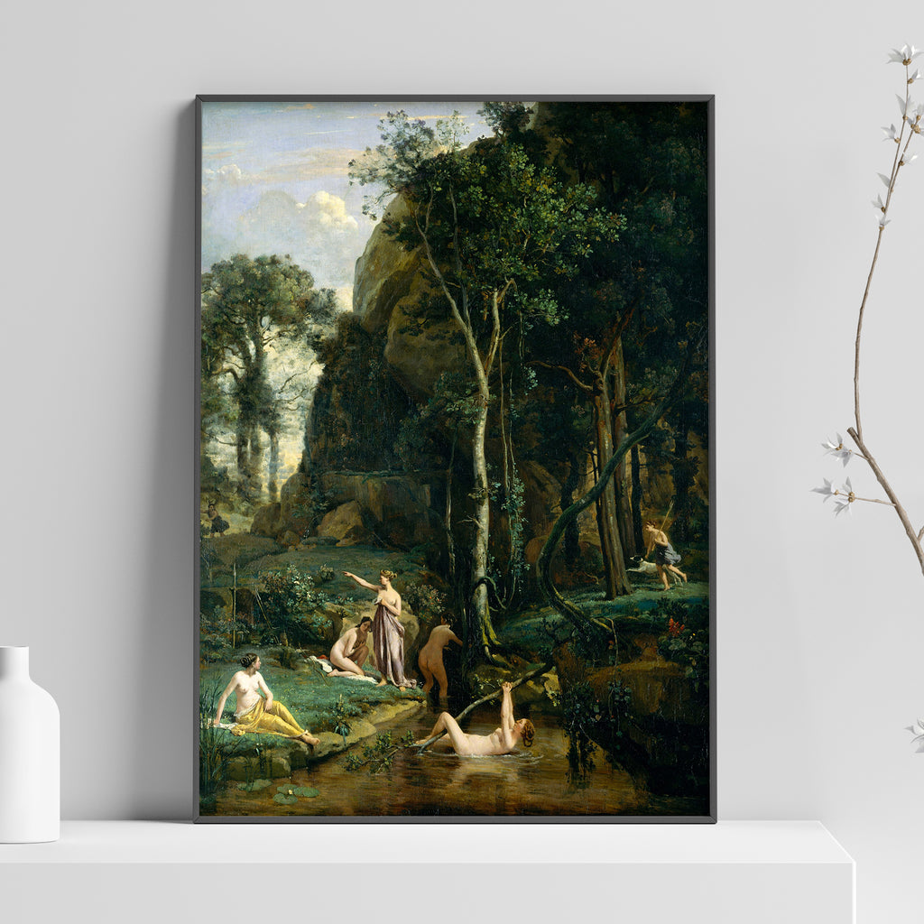 Diana and Actaeon (Diana Surprised in Her Bath) Poster