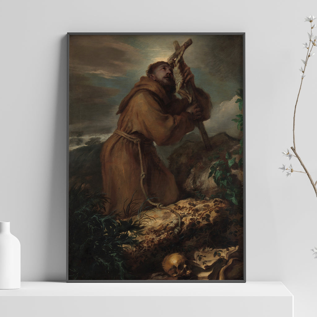 Saint Francis in Ecstasy Poster