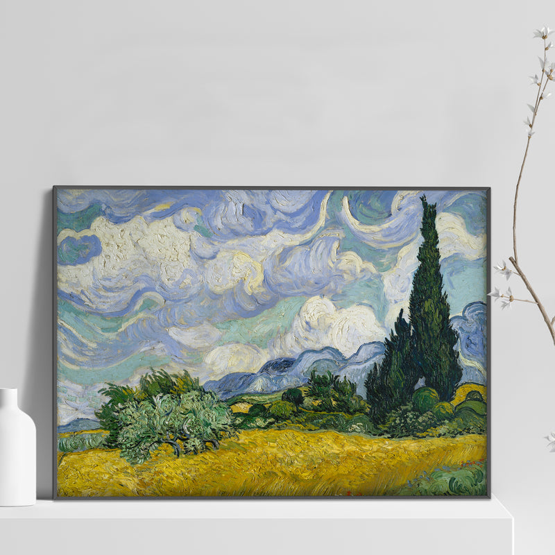 Van Gogh - Wheat Field with Cypresses Poster