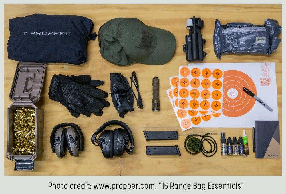 what to pack to the gun range
