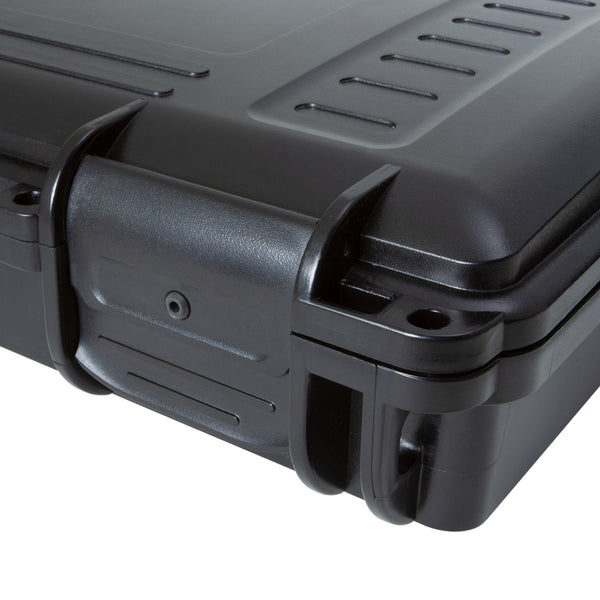 Gun case with pressure equalizing latches