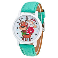 Christmas Leather Band Analog Quartz Vogue Watch