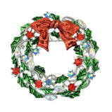 Christmas Wreath Brooch Gift