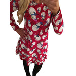 Women Long Sleeve Christmas Dress