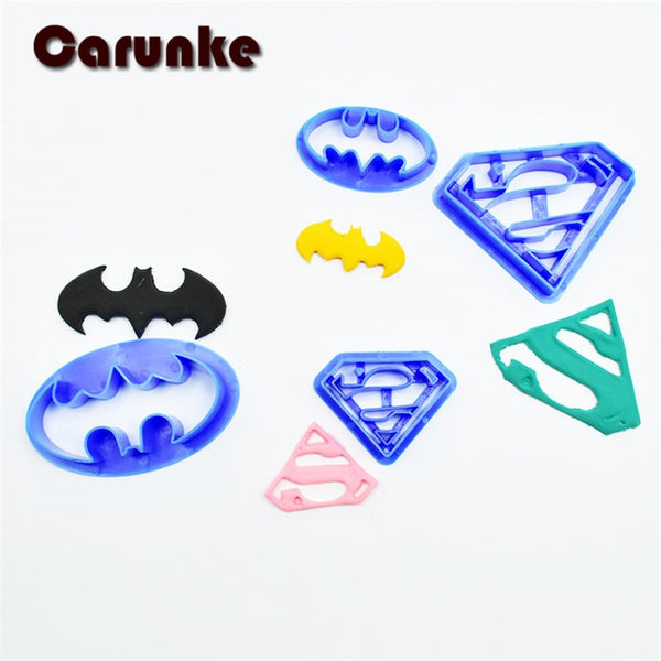 Superman and Batman Plastic Mold Cookie Cutter