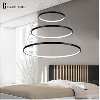 White Rings Circle LED Chandelier