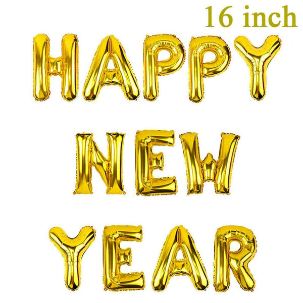 2019 Happy New Year Gold Foil Balloons