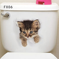 3D Toilet Stickers