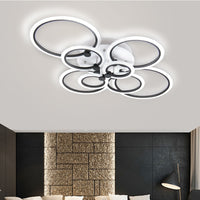 Black Rings Modern LED Chandelier