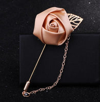1 Piece Fashion Suit Brooch Pins Rose Flower