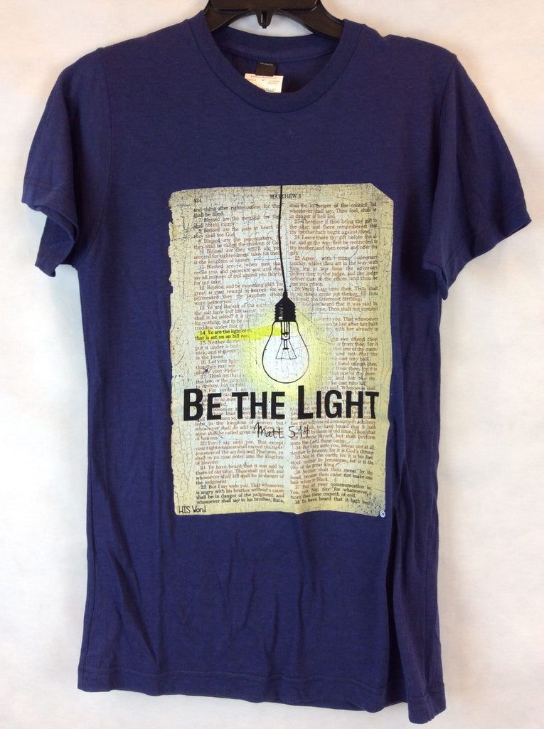 His Word Blue T-Shirt Be the Light Top