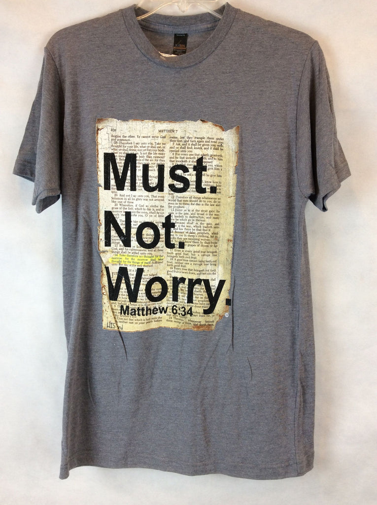 His Word Gray T-Shirt Not Worry Top