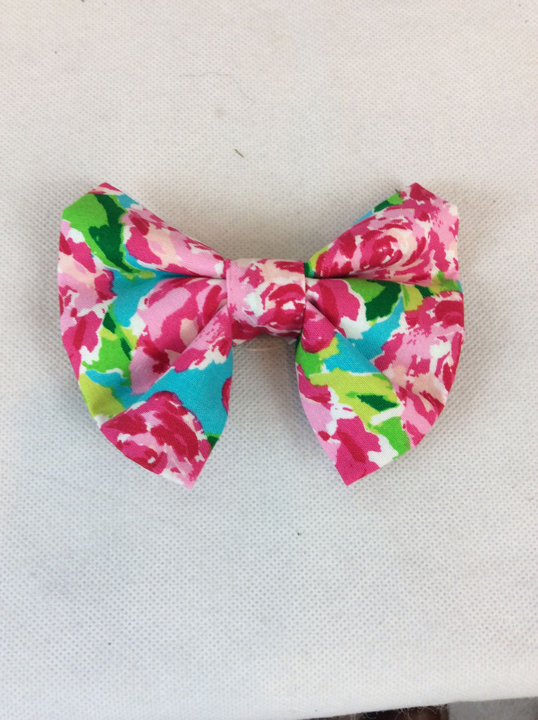 Pink/Floral Bow Tie Bow/Bow Tie