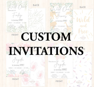 Custom Engagement Invitations