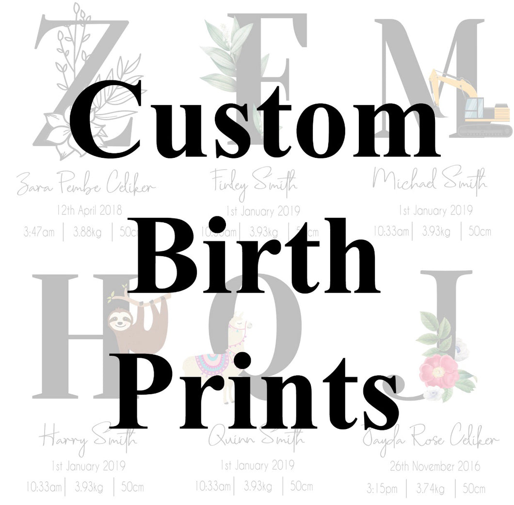 Custom Birth Print