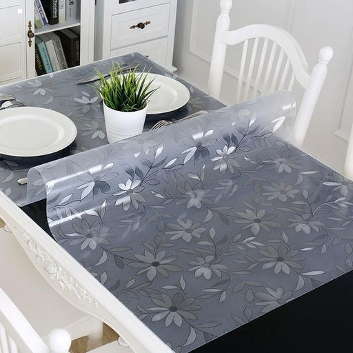 LOVRTRAVEL Table Cover 1.00mm 1.5 Mm Soft Glass Transparent PVC Tablecloth Waterproof Party Wedding Home Kitchen Dining Placemat-Shopping Direct Australia-Polish daisy 1mm-Private custom size- Smart Buy AU🇦🇺