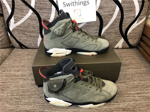 Travis Scott x Air Jordan 6 Retro Olive TOP QUALITY - Swithings