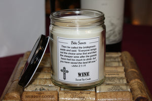 Bible Scents- Wine Scented Candle with Bible Verse - Fundaroma Candle