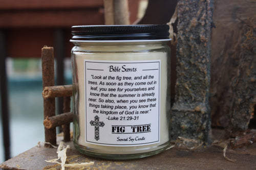 Bible Scents- Fig Tree Scented Religious Candle with Bible Verse - Fundaroma Candle