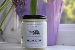 Cotton Clean Scented Soy Jar Candle