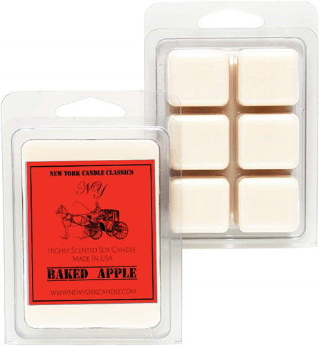 baked apple scented soy wax melts for autumn
