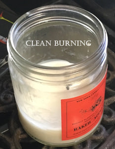 Clean burning scented candle