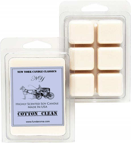 Strong scented soy wax melts cotton clean scent