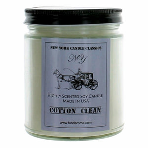 New York Candle- Cotton Clean Scented Candle Jar