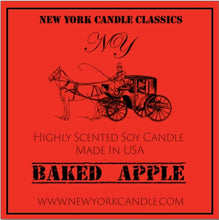 Load image into Gallery viewer, New York Candle- Baked Apple Scented Candle Jar - Fundaroma Candle