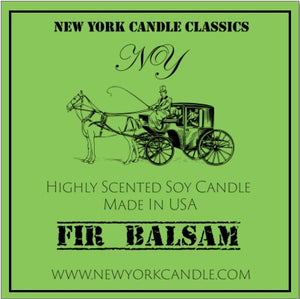 New York Candle- Fir Balsam Scented Candle Jar - Fundaroma Candle