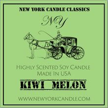 Load image into Gallery viewer, New York Candle- Kiwi Melon Scented Candle Jar - Fundaroma Candle