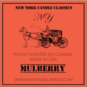 New York Candle- Mulberry Scented Candle Jar - Fundaroma Candle