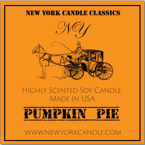 New York Candle- Pumpkin Pie Scented Candle Jar - Fundaroma Candle