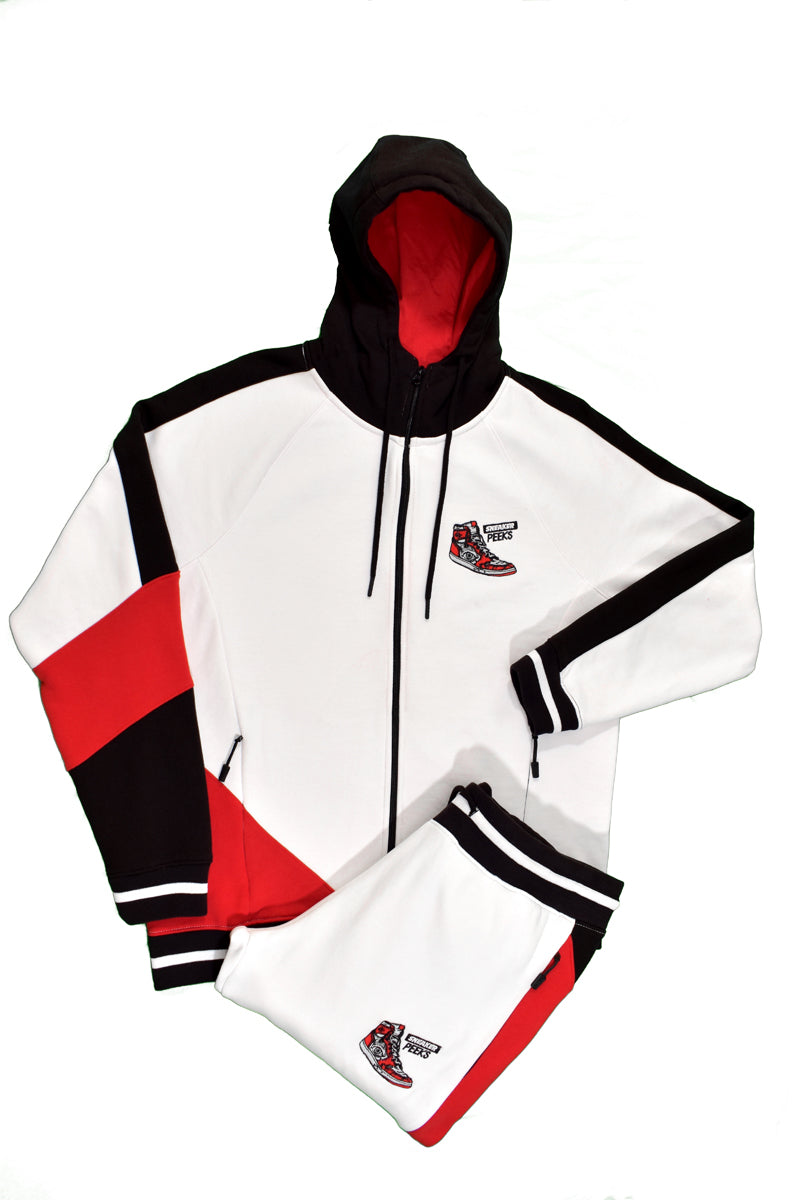 SneakerPeeks Tracksuit Set (White/Black/Red)