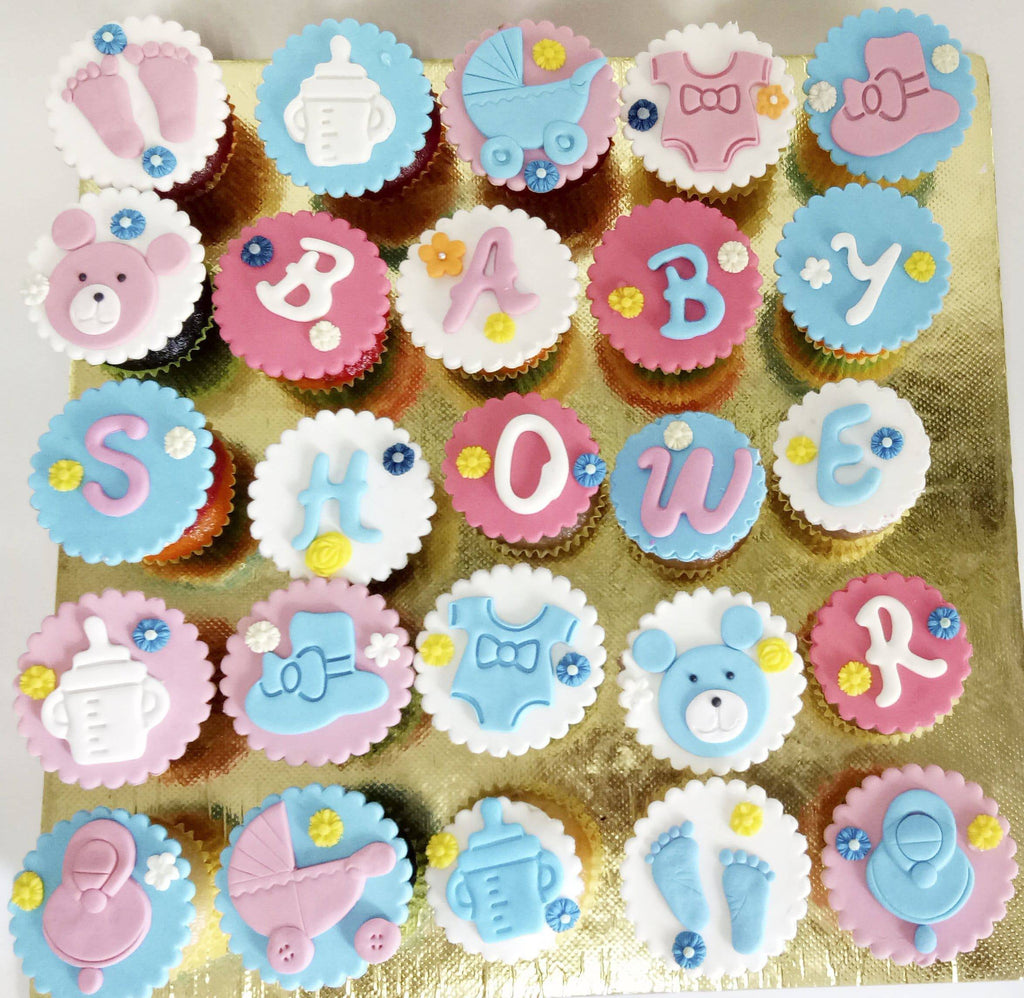 Baby Shower 2 Theme Cupcakes