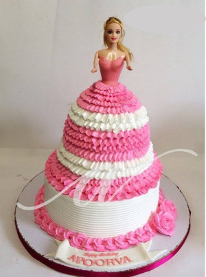 Barbie 05 Cake - Eggless