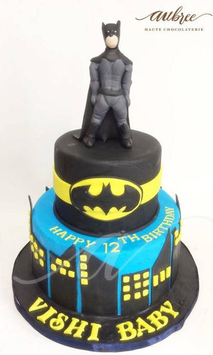 Batman 2 Layered Cake - Eggless