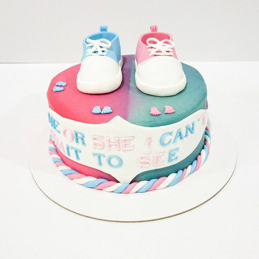 Birdy Baby Shower Cake - Eggless