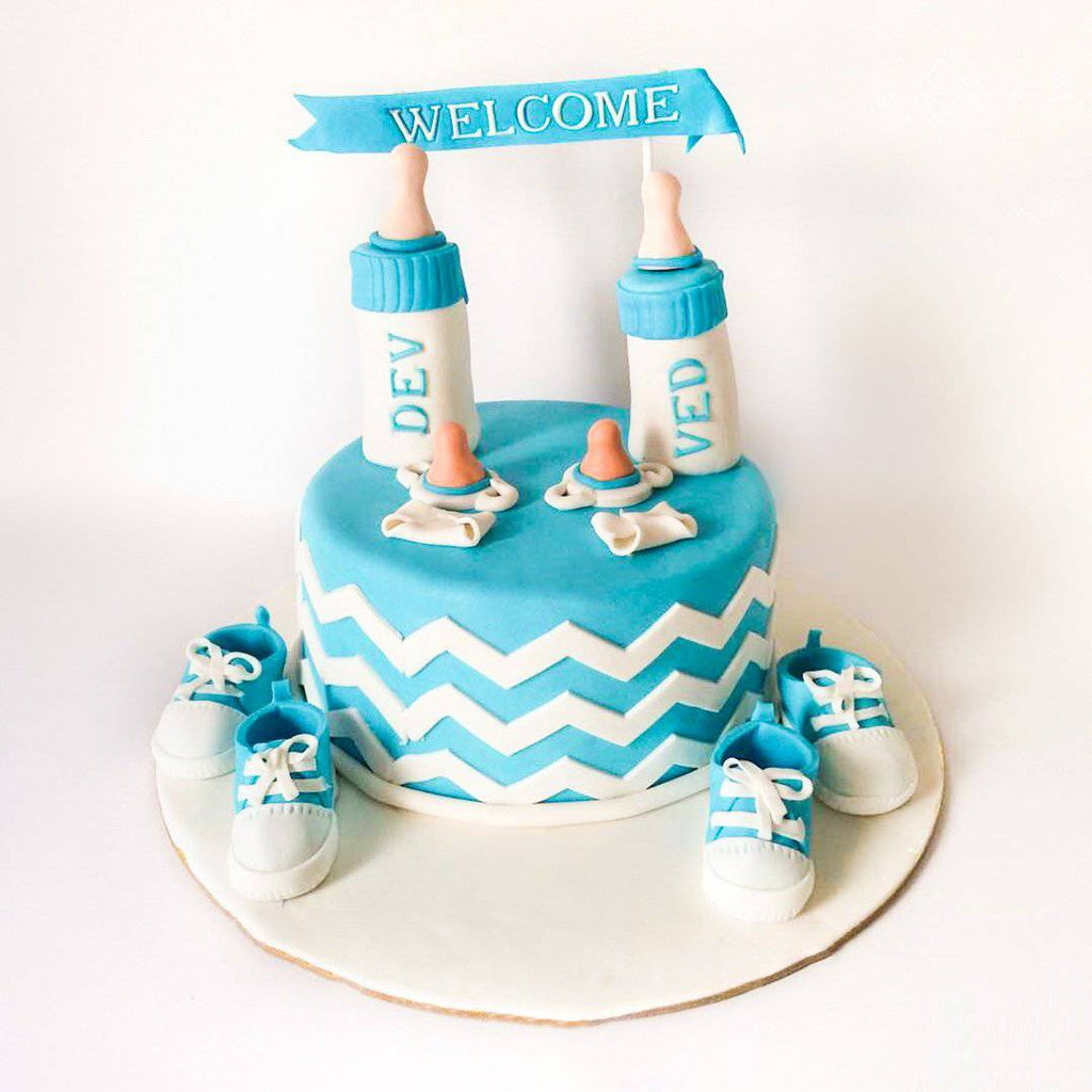 Baby Welcoming Cake - Eggless