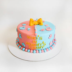 Baby Reveal Baby Shower Cake - Eggless