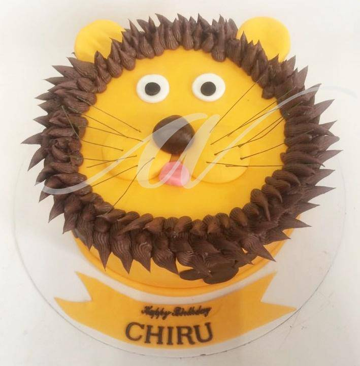 Lion Cake - Eggless
