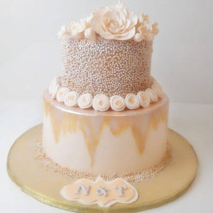 Floral Pearls Cake