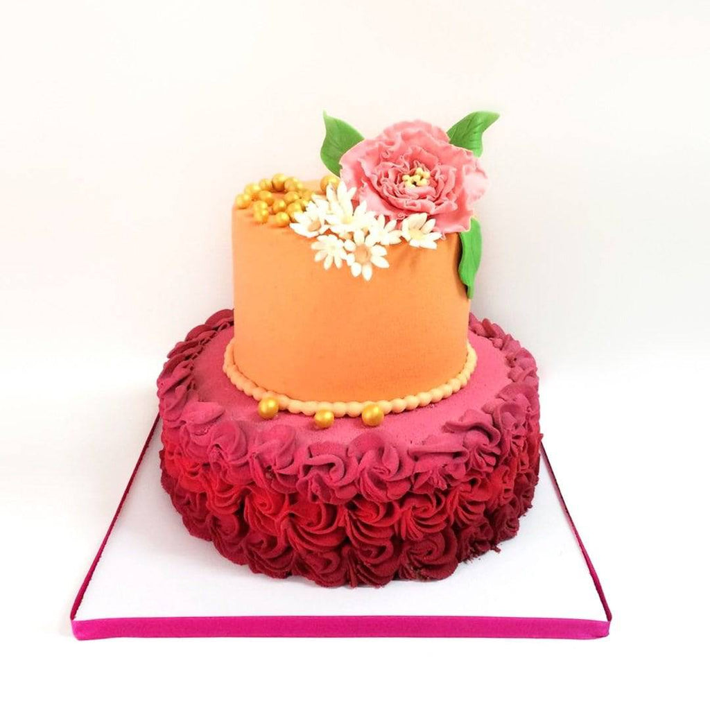 Mixed Floral Cake - Eggless