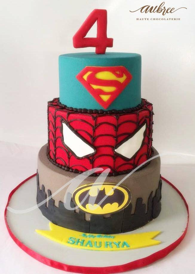 Super Spider Heros Cake - Eggless